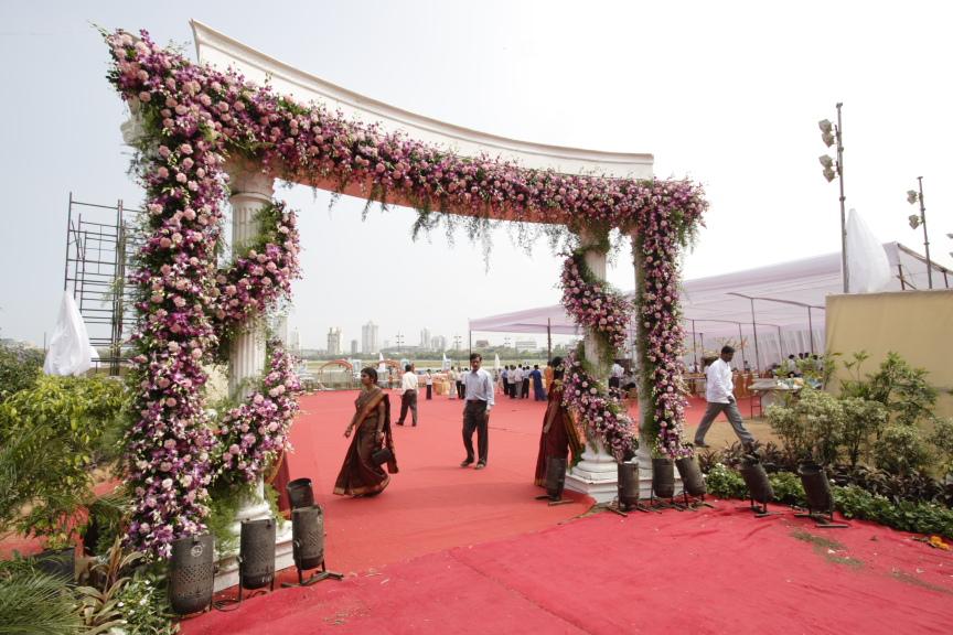 Weddings at race course mumbai venue decoration jess ideas floral gate race course mumbai junglespirit Images